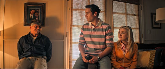 "Billy Magnussen (from left) Jon Barinholtz and Meredith Hagner star in ""The Oath."""