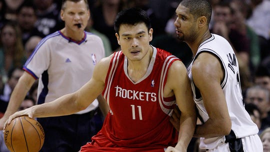 Yao Ming was inducted into the Naismith Memorial Basketball Hall of Fame.