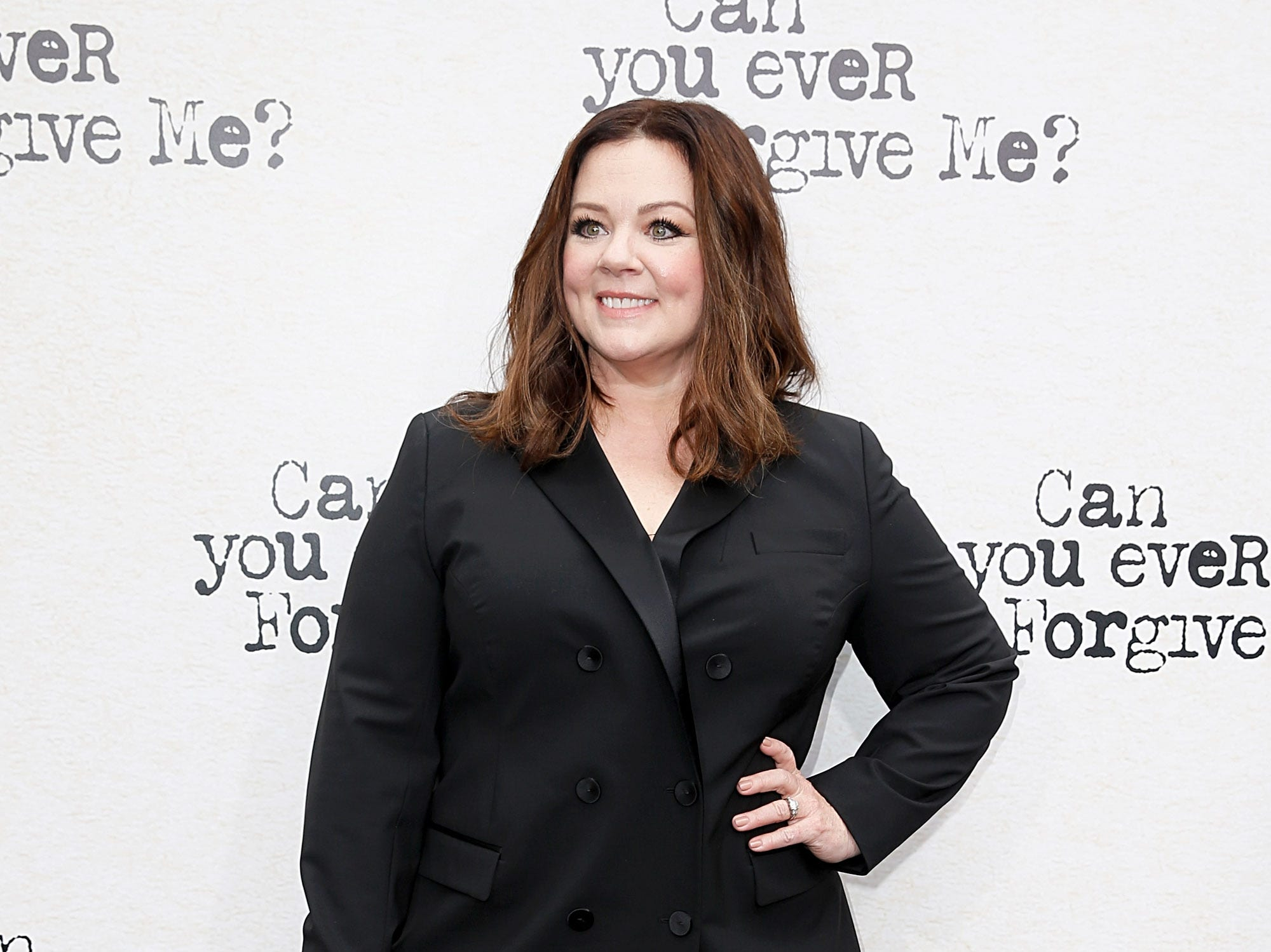 "Melissa McCarthy attends the ""Can You Ever Forgive Me?"" premiere on Oct. 14, 2018, in New York City."