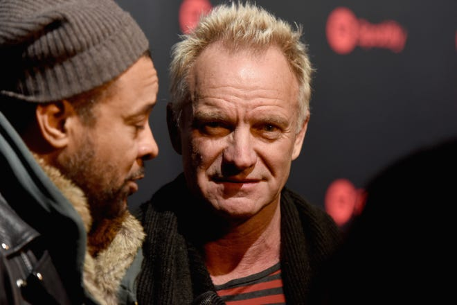 Shaggy (left) and Sting attends Spotify's Best New Artist Party on Jan. 25, 2018, in New York City.
