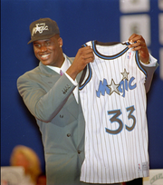 Shaquille O'Neal averaged a double-double of 23.4 points and 13.9 rebounds his rookie year (1992-93) with the Orlando Magic.