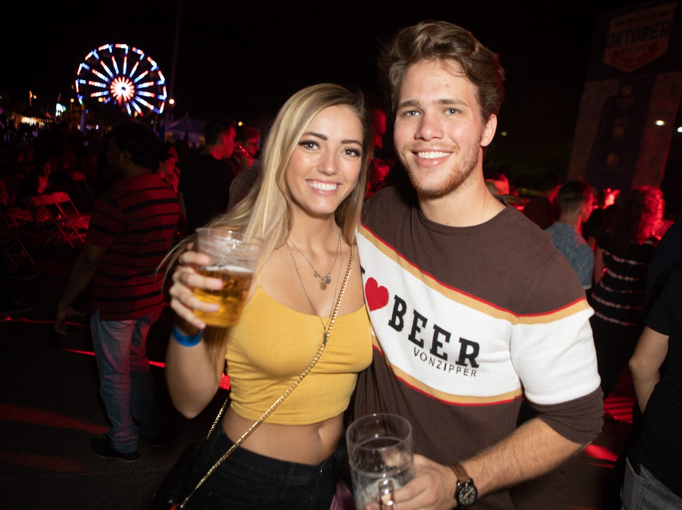 Thousands of people packed Tempe Beach Park for Four Peaks Oktoberfest on Friday, Oct. 12, 2018 in Tempe.