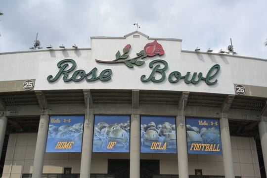 The Rose Bowl stadium in Pasadena, home of the UCLA Bruins.