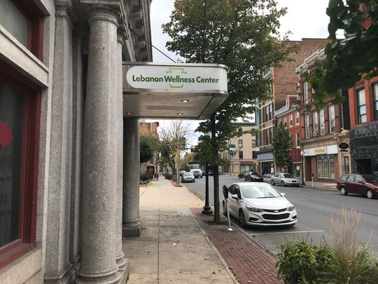 The awning of the Mann Building at 815 Cumberland St. displays the logo of the Lebanon Wellness Center, a planned medical marijuana dispensary.