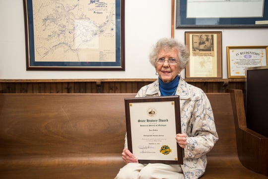 Joan Bulley, 88, the former president of the Algonac Clay Historical Museum and a 26-year charter member, was presented a State History Award by the Historical Society of Michigan for distinguished volunteer service.