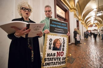 Listen to mother of clergy abuse victim Corey Leech,  Cindy Leech talks about the struggles of her son
