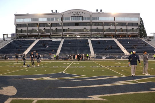 Mackay Stadium is pictured here before a game last season.