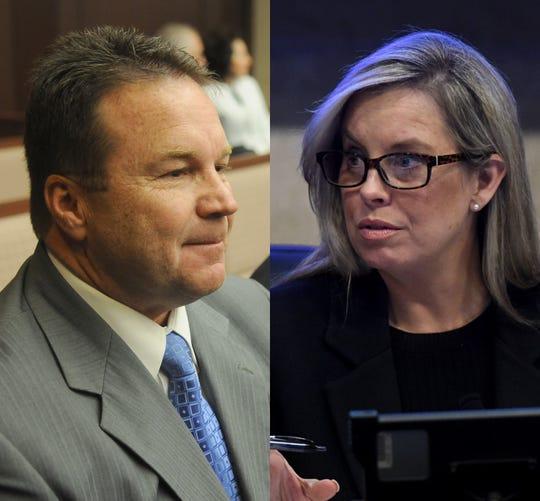 Eddie Lorton and Hillary Schieve, candidates for Reno mayor in 2018.