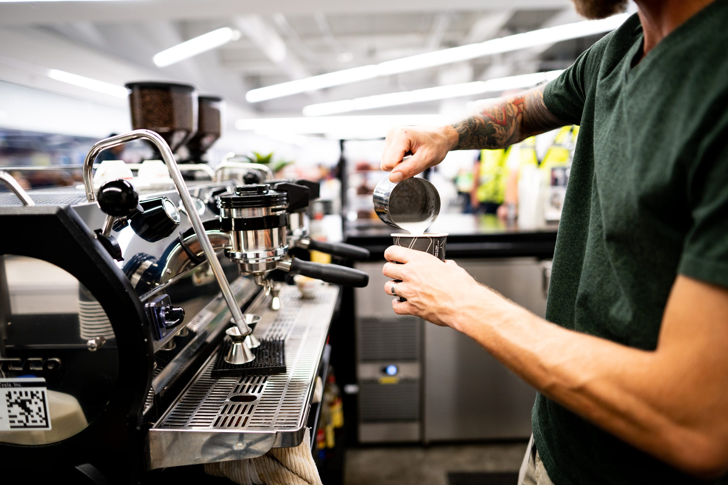 Hand Craft Coffee Co. started as a mobile vendor at the Tesla Gigafactory east of Reno. The baristas moved into the main cafeteria in January 2018.