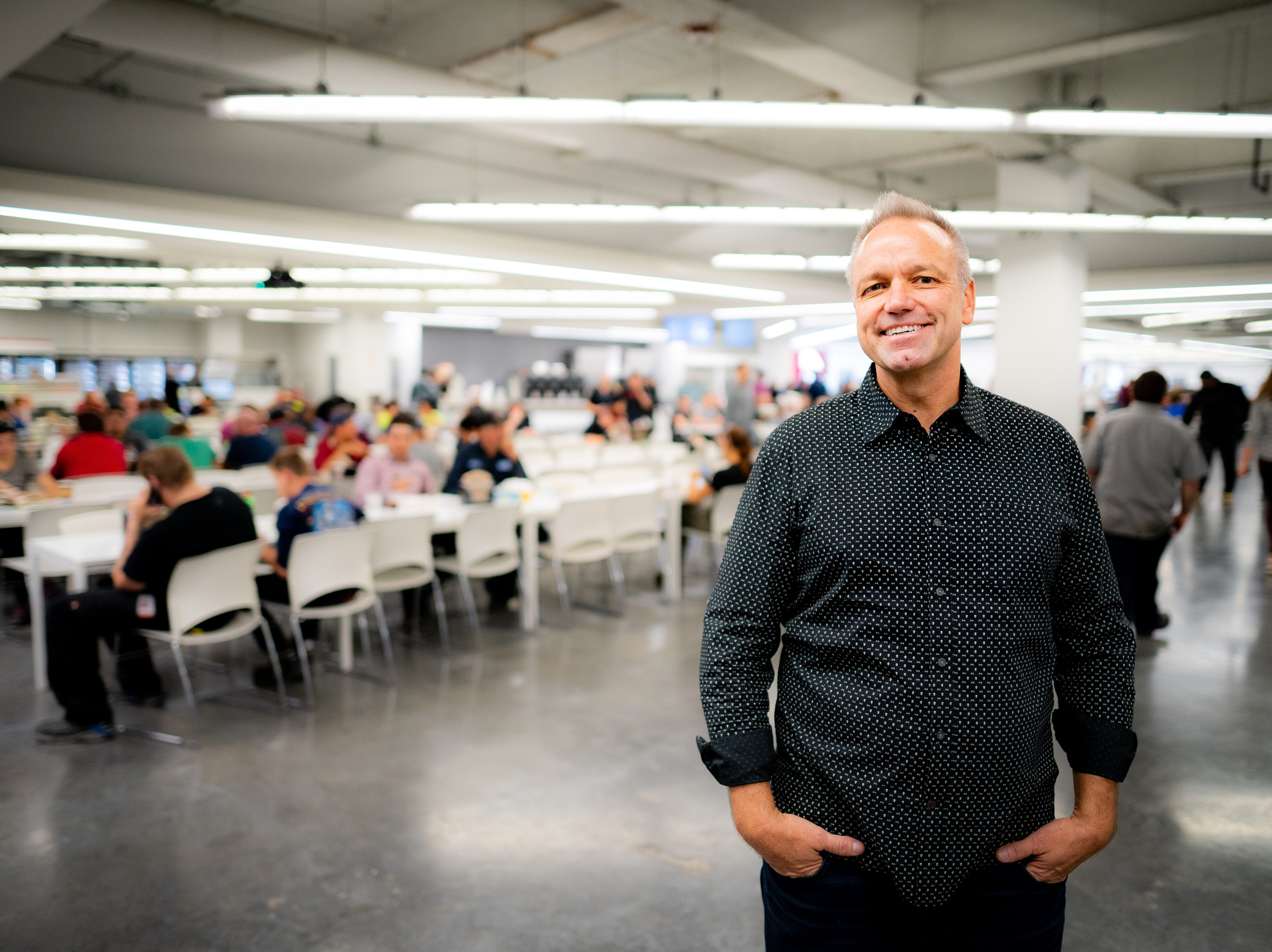 Anton Novak, co-owner of Rounds Bakery of Reno, operates nine markets at the Tesla Gigafactory east of the city. He estimated Rounds would have 11 by the end of 2018.