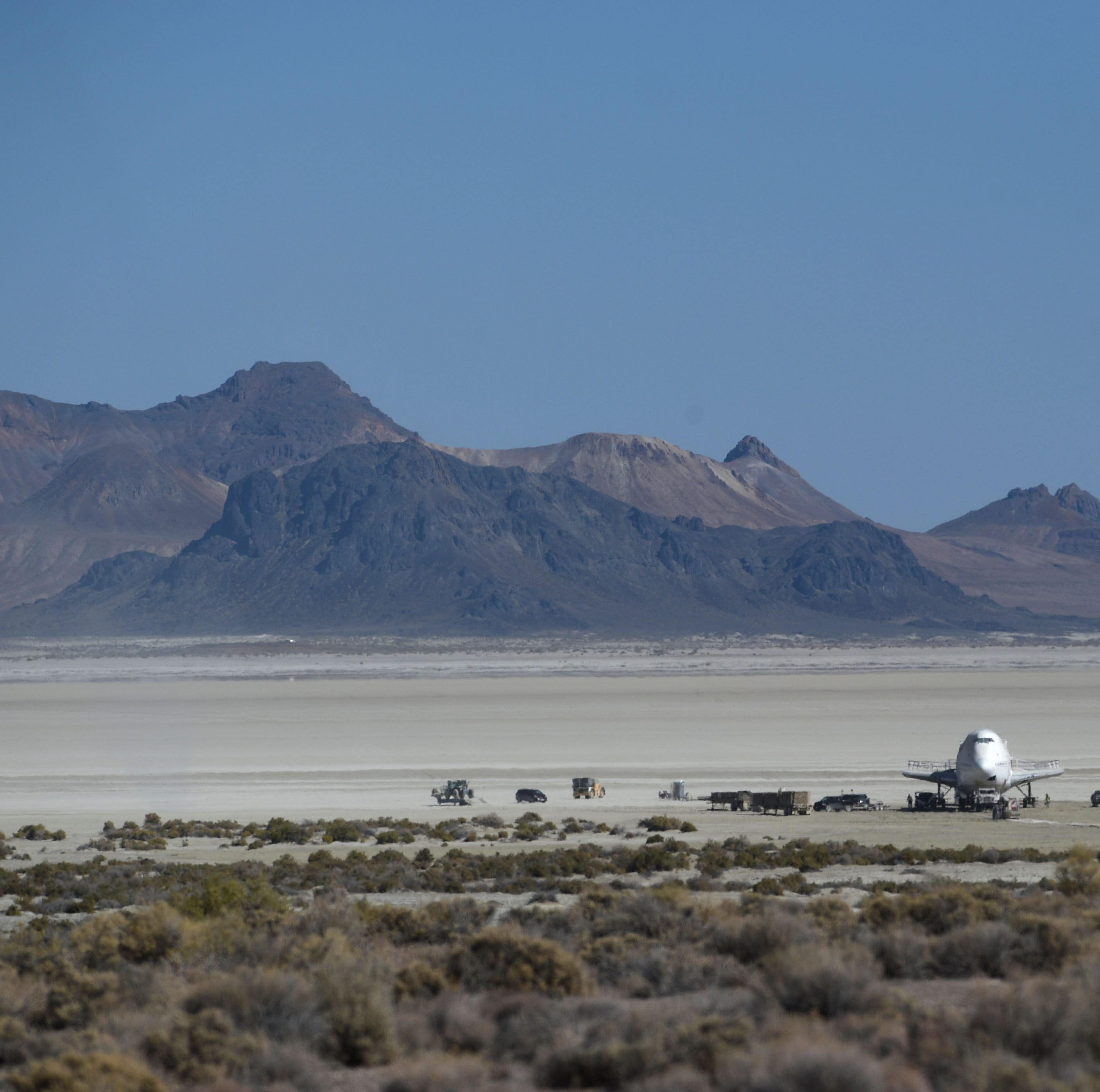 Here's how the 747 airplane from Burning Man finally parked on private property