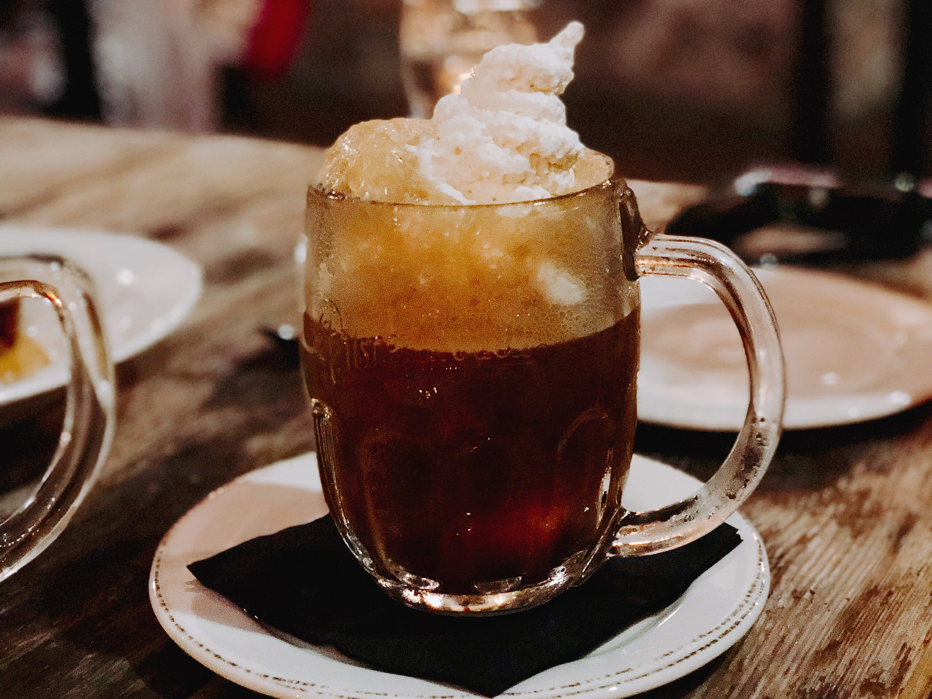 Not Your Father's Root Beer float at Unter Biergarten is made with toasted marshmallow ice cream.