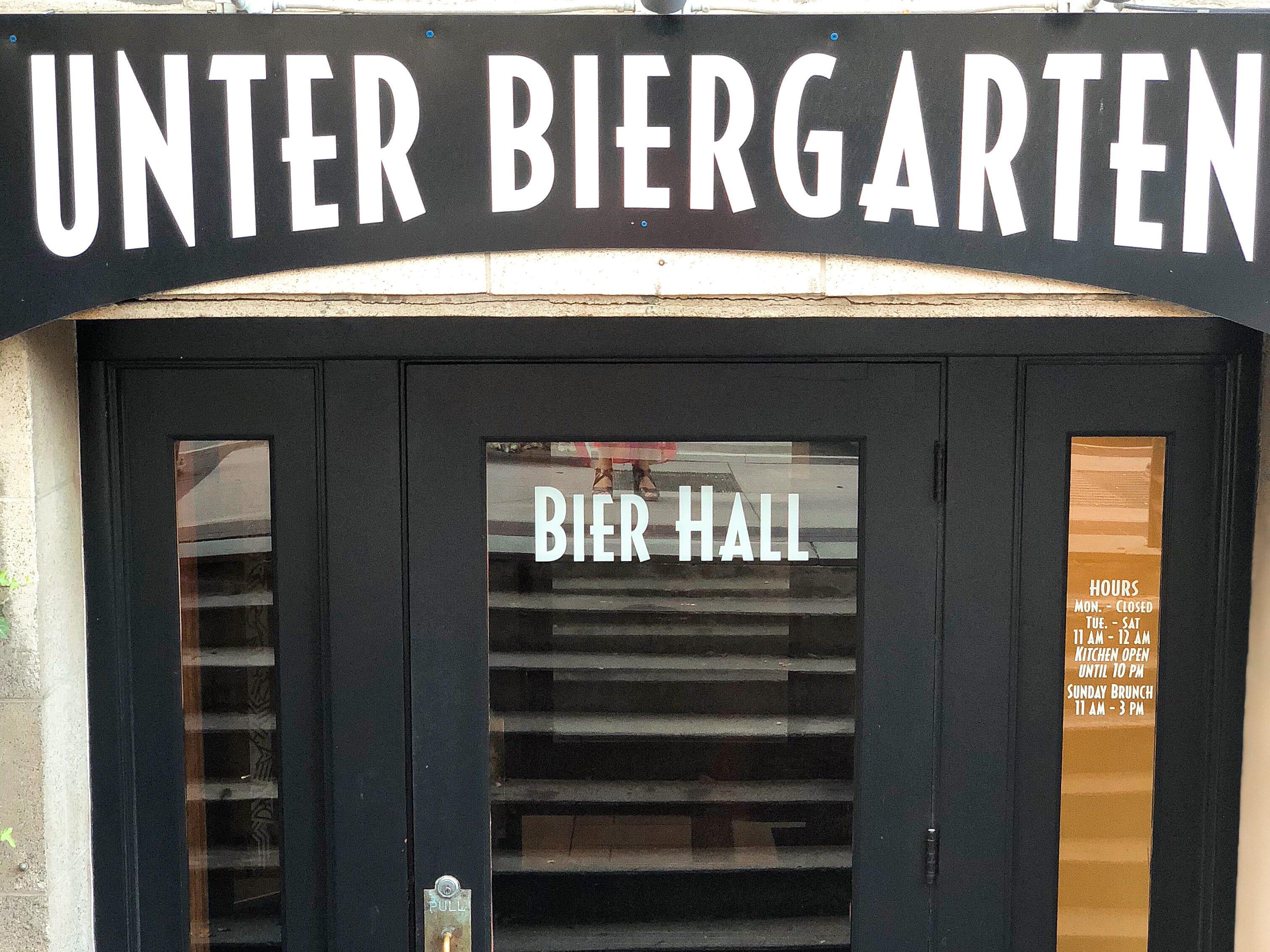 Unter Biergarten succeeds a Belgian beer bar.