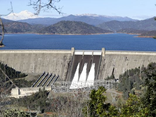 The U.S. Bureau of Reclamation, which operates Shasta Dam, has proposed raising the height of the dam 181/2 feet.