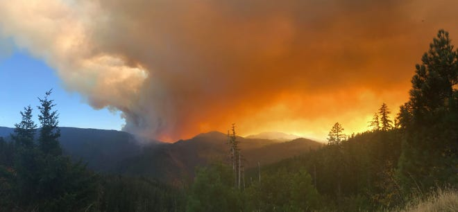 The Klondike Fire blew up on Sunday afternoon in southwest Oregon.