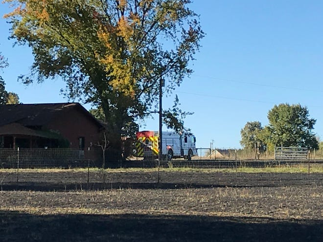 An out of control burn pile turned grass fire burned 10 acres near Salem on Sunday.