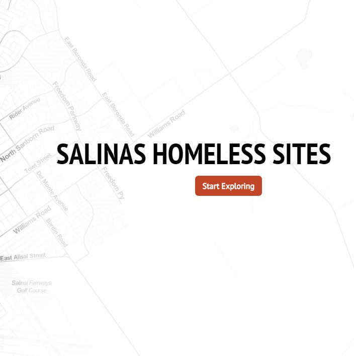 Where are Salinas homeless shelters and services located? Here's a map.
