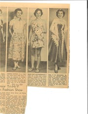 This article from March 24, 1952 talks about a fashion show, hosted in part by The Fashion. The models depicted some outfits that could be bought at the store.