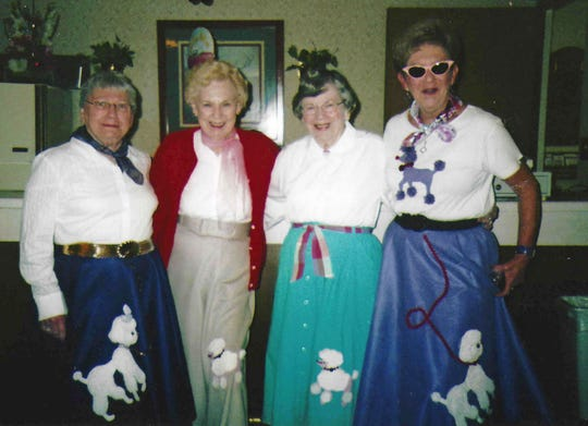 Members of the Shoreline Woman's Club. From left: Julia Ehlert, Virginia Newmeister, Jean Kistner and Marion Held.