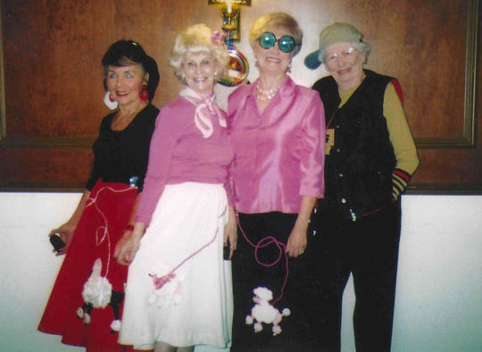 Shoreline Woman's Club members. From left: Ramona Holsen, Adie Schmidt, Corrine Felter and Anne Ibe