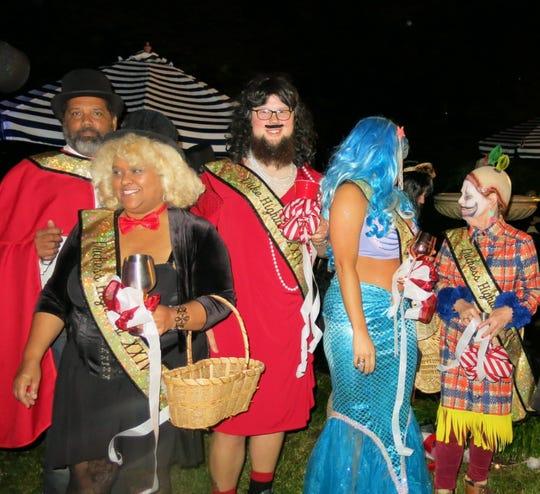 Krewe of Highland XXIV  royalty from the left, Duke Darrel La Beau , Duchess Karen La Beau, Duke Stephen Pederson, Duchess Jennifer Harvey and Duchess Sheila Harkey.
