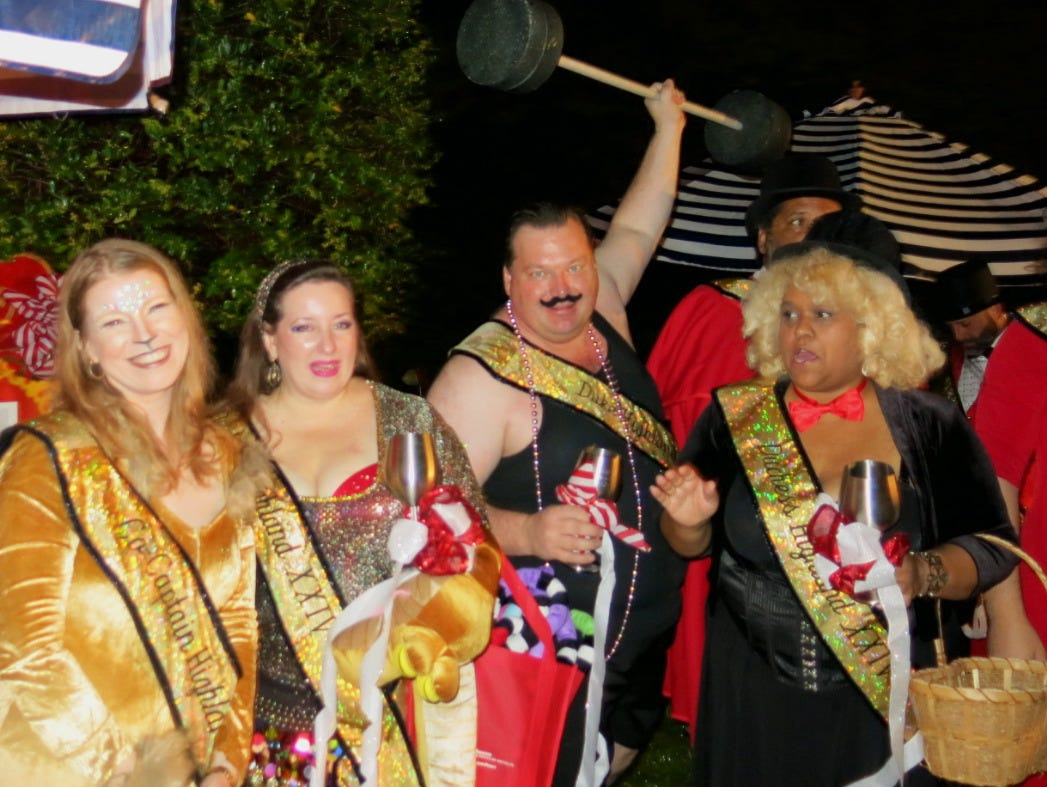 Krewe of Highland XXIV royalty from the left, Co-Captain Michele Marcotte, Duchess Lynn Laird, Duke Galen Light and Duchess Karen La Beau.