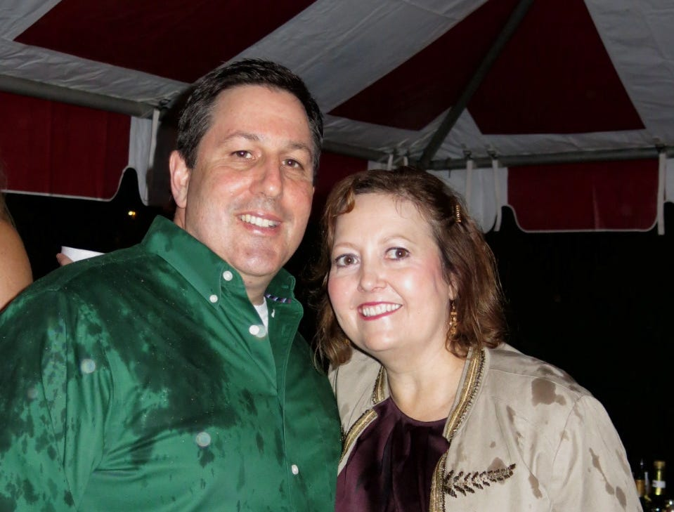 Assistant Caddo Parish District Attorney William Edwards and his wife, Rebecca at Krewe of Highland Coronation.