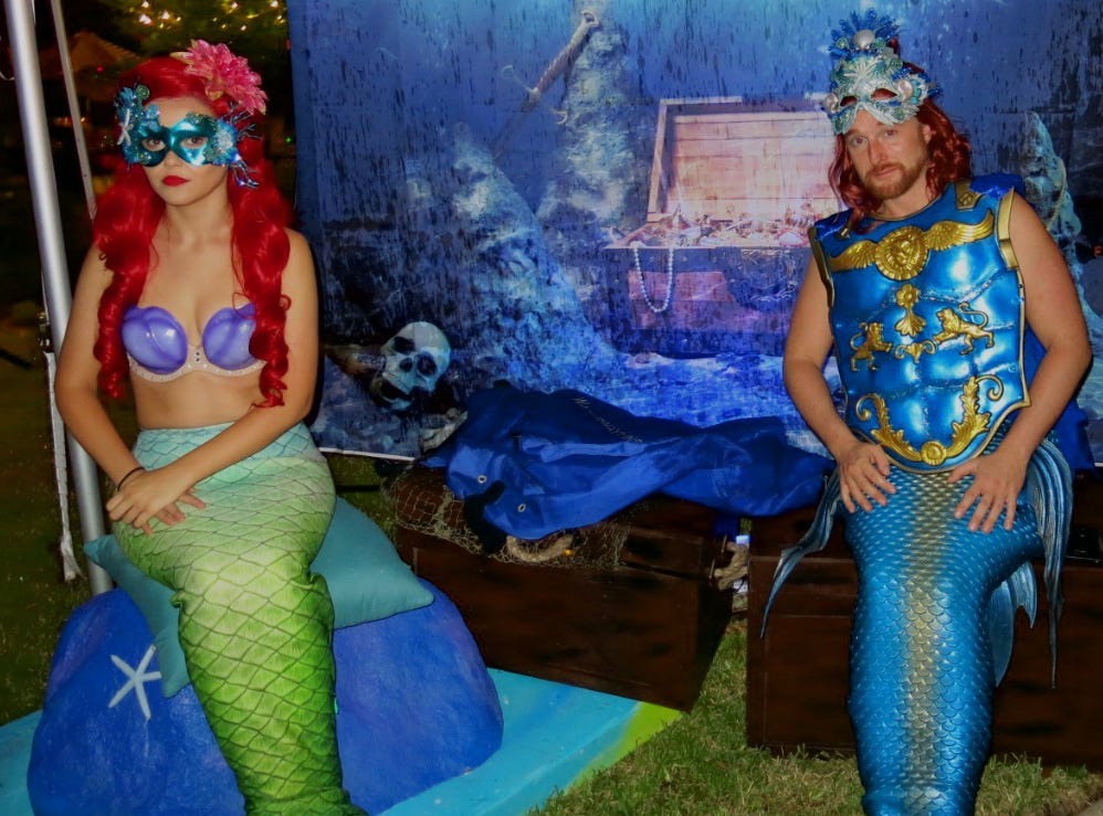 Ariel and Merman at Krewe of Highland Coronation on Oct. 12.
