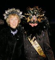 Krewe of Highland XXIV King Dennis Beckman with his sister Deb Cockrell.