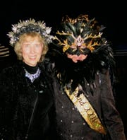 Krewe of Highland XXIV King Dennis Beckman with his sister Deb Cockrell.