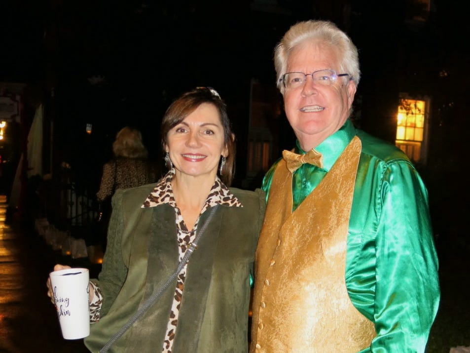 Elena Duke and Andy Shehee at Krewe of Highland Coronation XXIV.