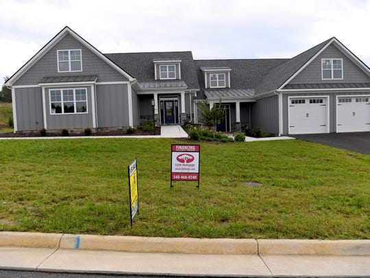 A model home at Myers Corner in Fishersville.