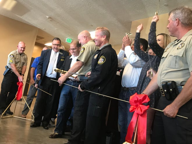 Washington County Sheriff's Office personnel joined other county officials Monday in celebrating the opening of a new expansion at Purgatory Correctional Facility that will house low-risk inmates who participate in a special work program.