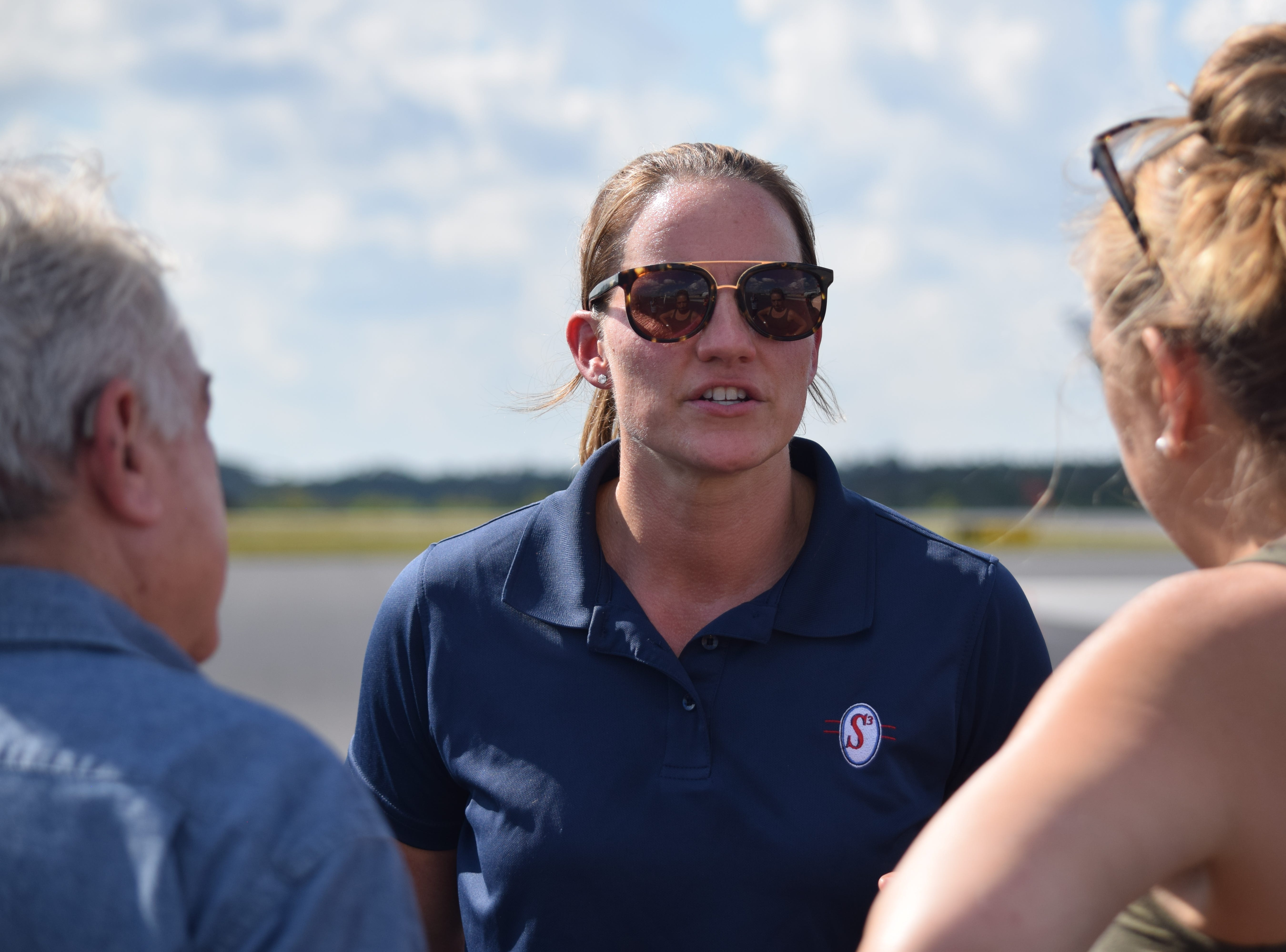 Jessica Mates pilots a trip for Operation Airdrop to take supplies to Port St. Joe after Hurricane Michael ravaged the coast.