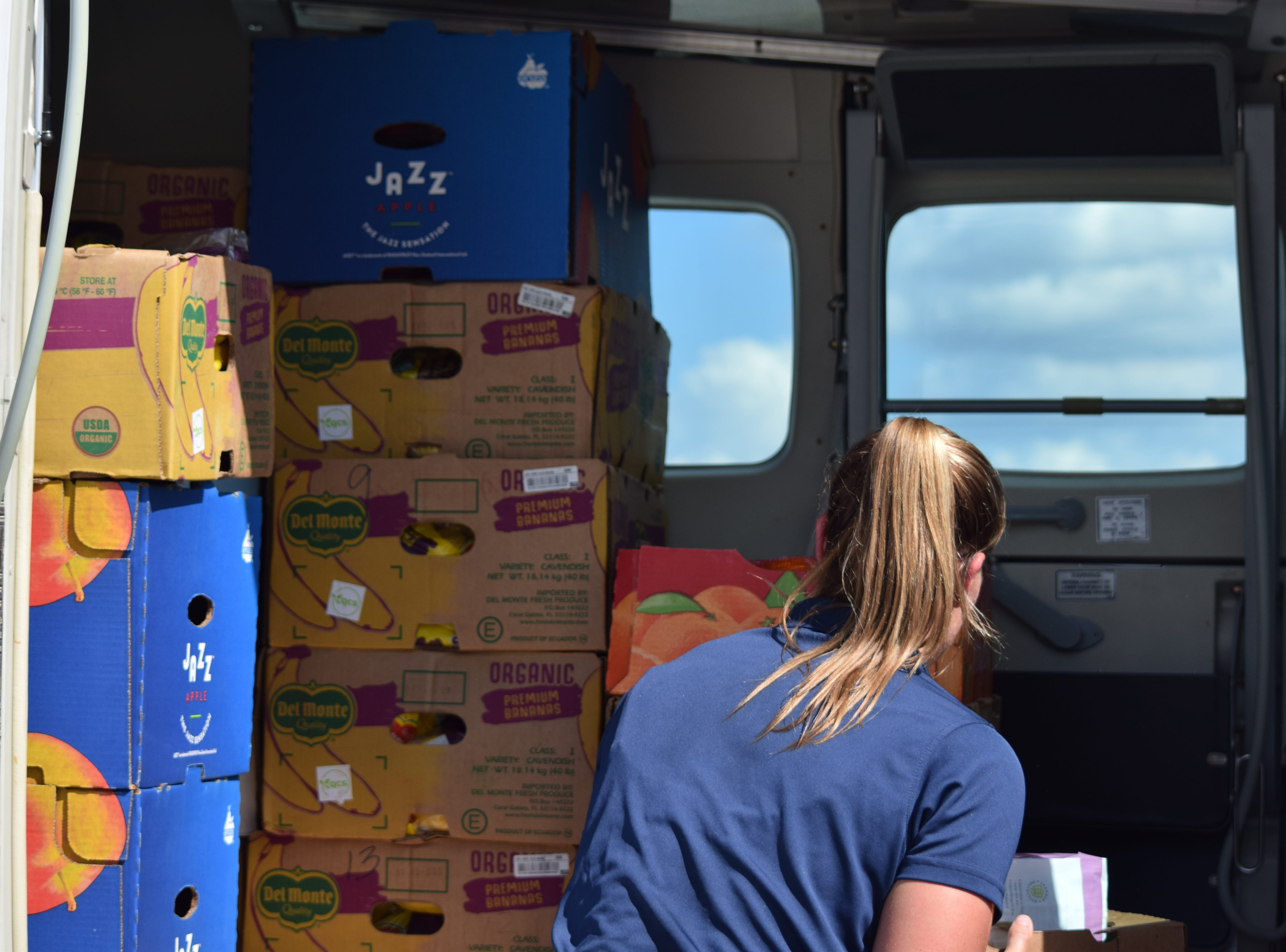 Operation Airdrop takes 1,500 pounds of fresh fruit and vegetables to Port St. Joe following Hurricane Michael.