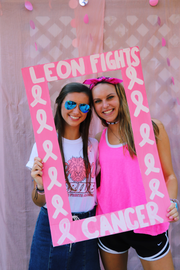 Leon High students sold T-shirts, lemonade and baked goods, pizza, and coffee to try to reach a $25,000 fundraising goal to fight cancer.