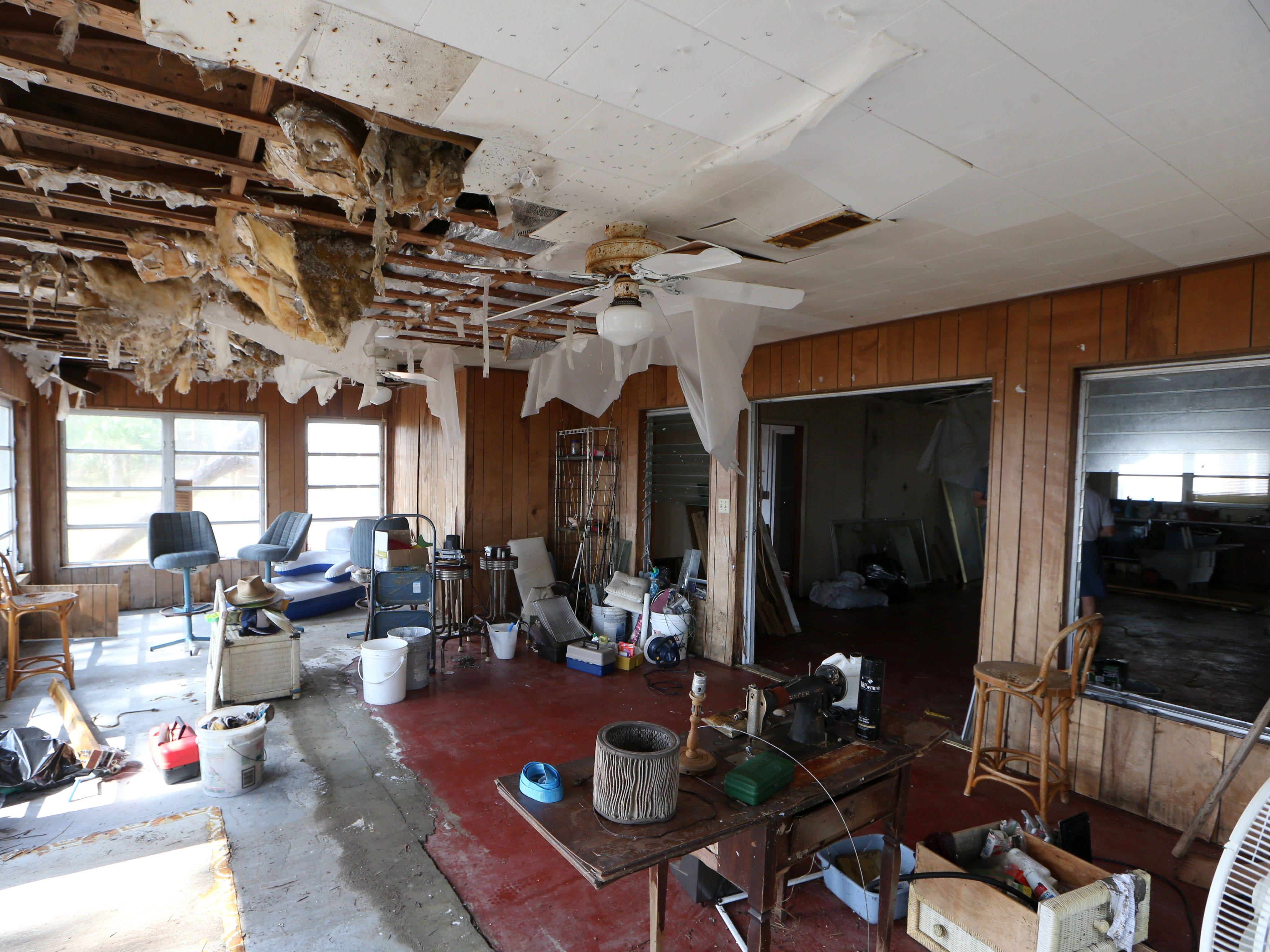 Wilson Wright's home in Carrabelle Beach experienced a significant amount of storm surge after Hurricane Michael on Monday, Oct. 15, 2018.