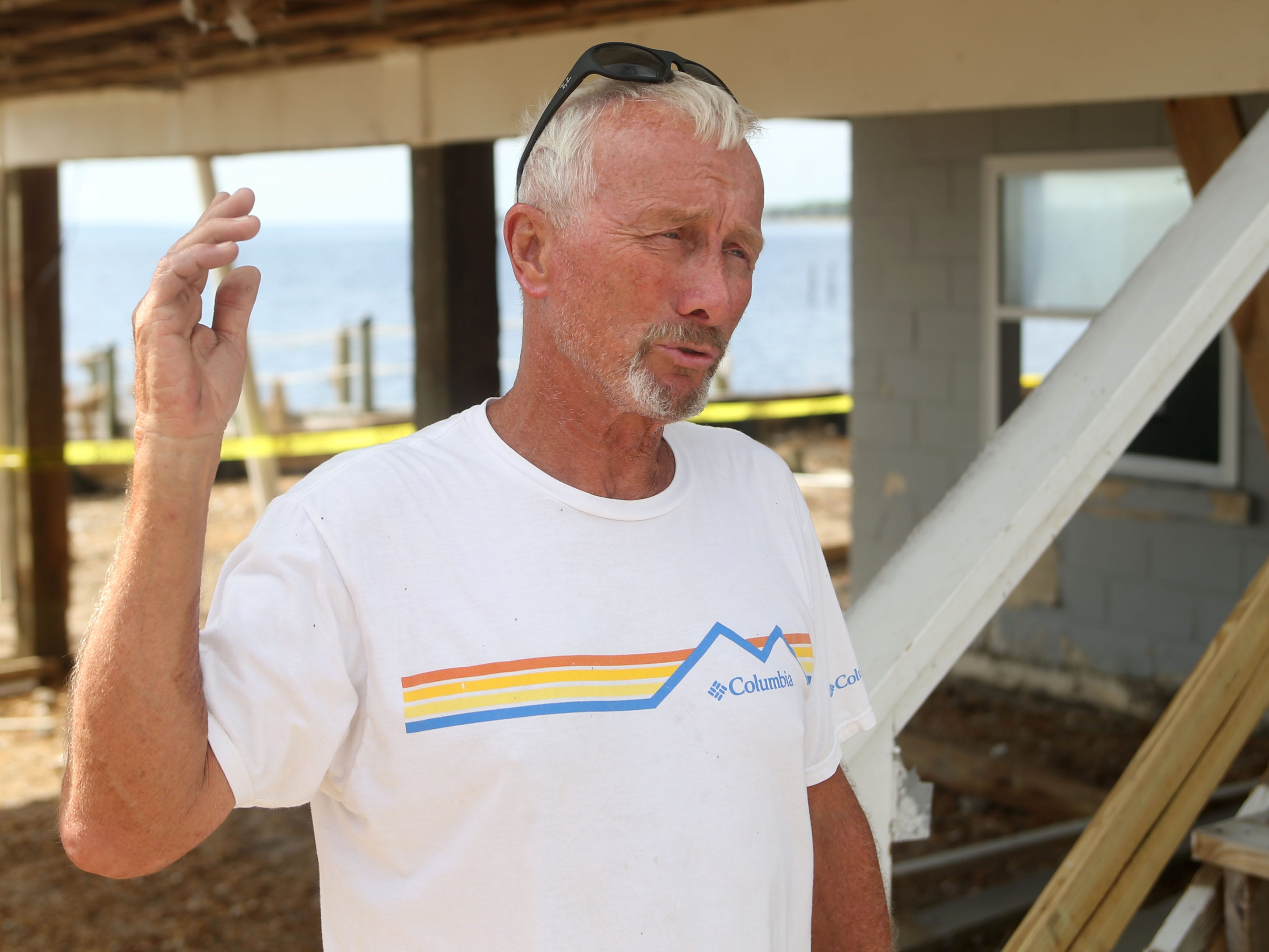 Doug Fordham speaks about his experience in Carrabelle Beach after Hurricane Michael on Monday, Oct. 15, 2018.