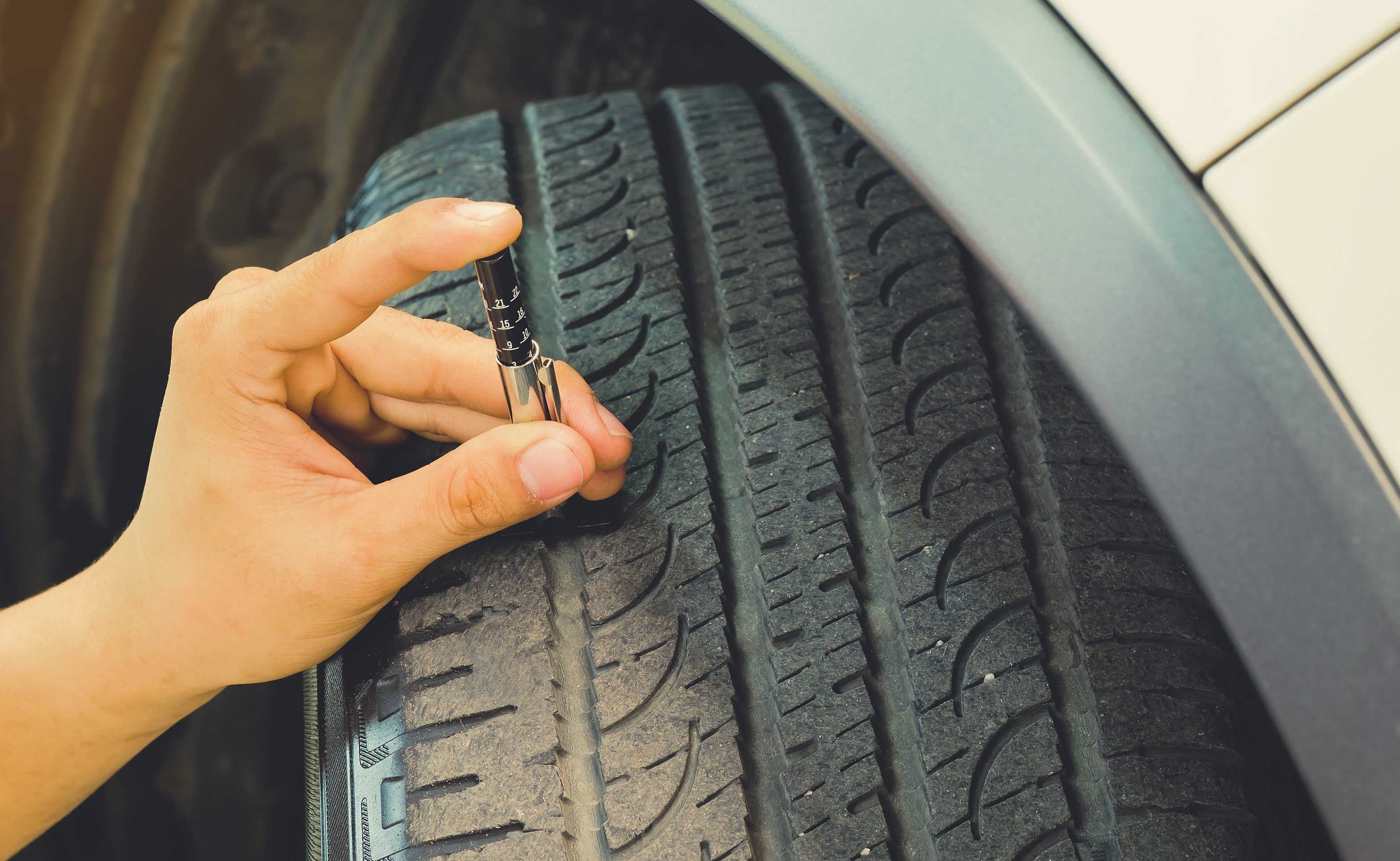 Measuring Tread Wear On A Tire On A Car Safe To Use On A Daily Basis