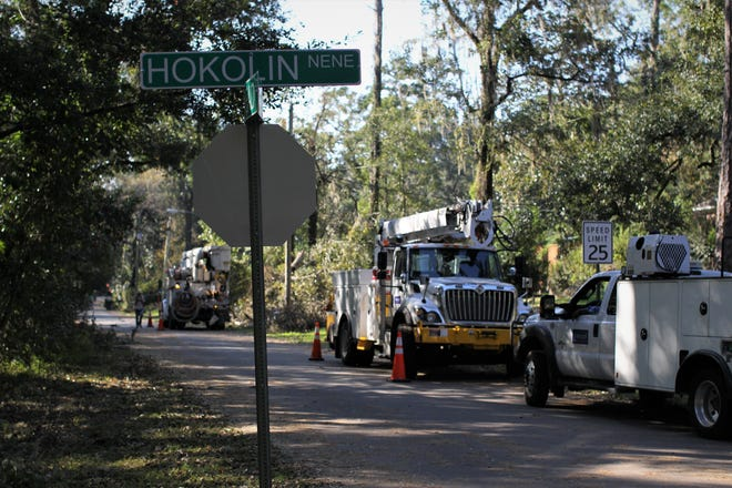 Recovery in Tallahassee's Indian Head Acres following damage from Hurricane Michael.