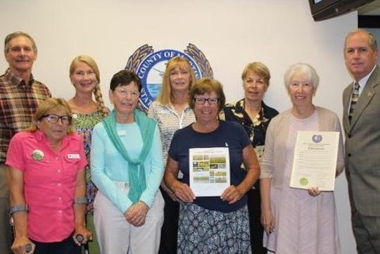 The Martin County Chapter of the Florida Native Plant Society accepted the Native Plant Month Proclamation from the Martin County Board of County Commissioners on Oct. 9.