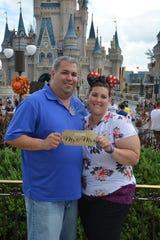 Port St. Lucie residents Jason Romano and Natasha Mardis became engaged at Walt Disney World.