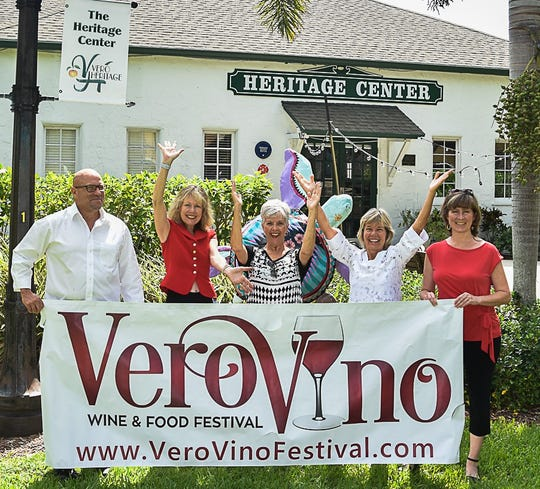 2018 Vero Vino Wine & Food Festival Committee members, from left, Glenn Ferdinand, Tammy Bursick, Barbara Petrillo, Patti Carlson and Susan Rane.
