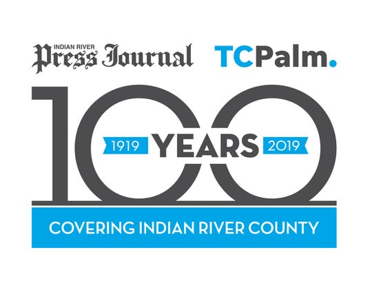 Press Journal TCPalm 100 years centennial logo