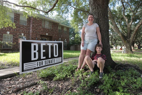 Piper Lindeen of Fort Bend County said she's supporting Beto O'Rourke for Senate because of her marijuana advocacy for her son Zachary, 9, who has epilepsy.