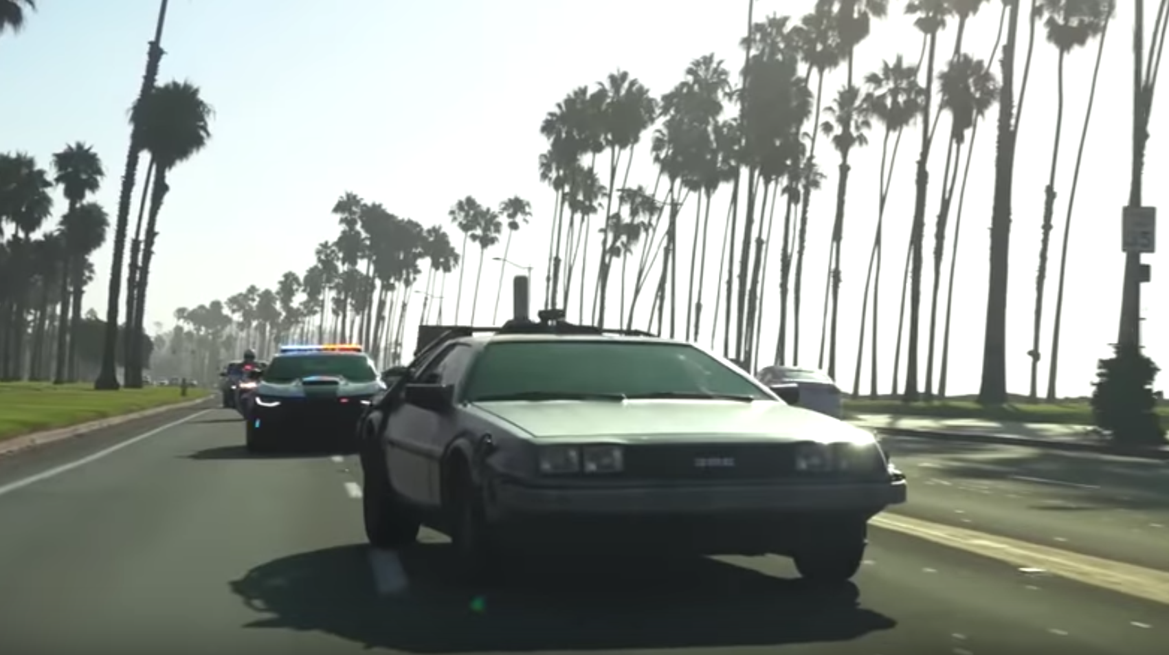 A scene from the Santa Barbara Police Department's Lip Sync Challenge video that they released in part because the Oxnard Police Department challenged them.