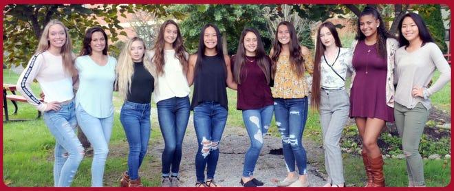 (From left) Jane Seabert, Emily Scott, Lena Viti, Haley Kahana, Dawn Lombardi, Kayla DeCesari, Madison Mace, Destiny Forrest, Dayla Fennal and Jenna McCarty are Delsea Regional High School's Homecoming Queen candidates.
