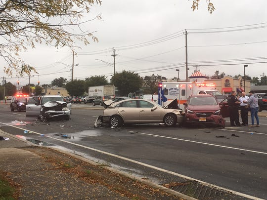 Four people were injured Oct. 15, 2018, in a three-car accident on Route 59 in Nanuet. One driver, Rohan Brijlall of the Bronx, pleaded guilty in Rockland County Court on Aug. 30 to second-degree assault.
