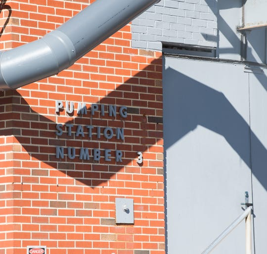 Kent County's sewage pump station 3, located on Water Street in Dover.