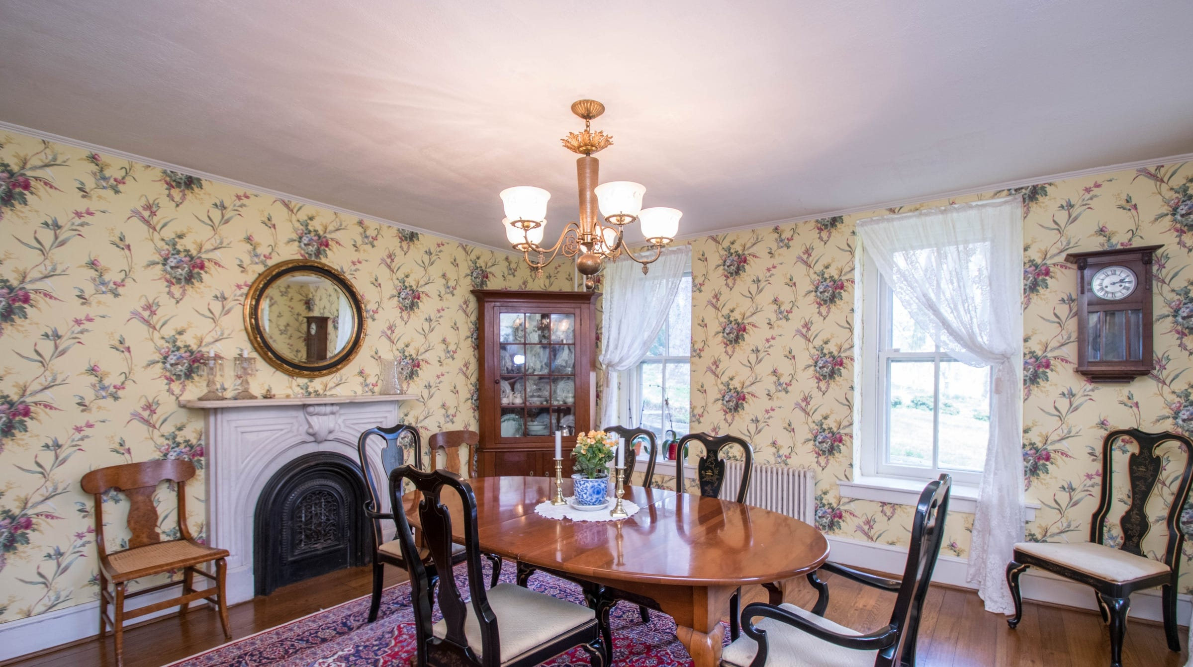 There's a trapdoor, believed to have been used in the Underground Railroad, under the table in the formal dining room at 3003 Faulkland Road.